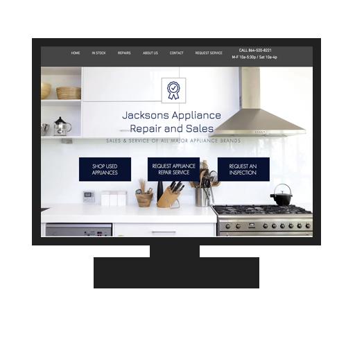 Website for Jacksons Appliance