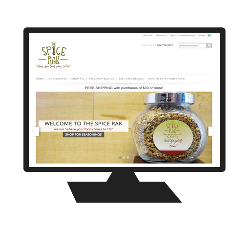 Website for The Spice Rak