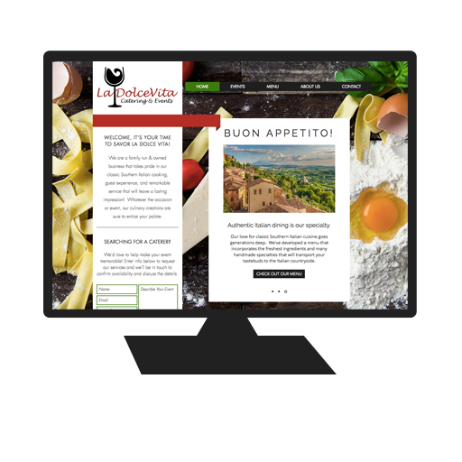 Website for Savor La Dolce Vita